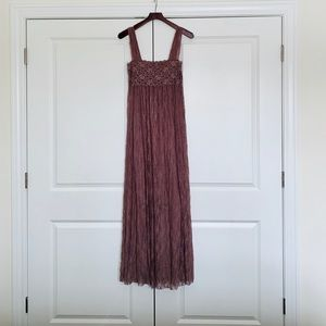 Free People Romance in the Air Lace Maxi Slip, L